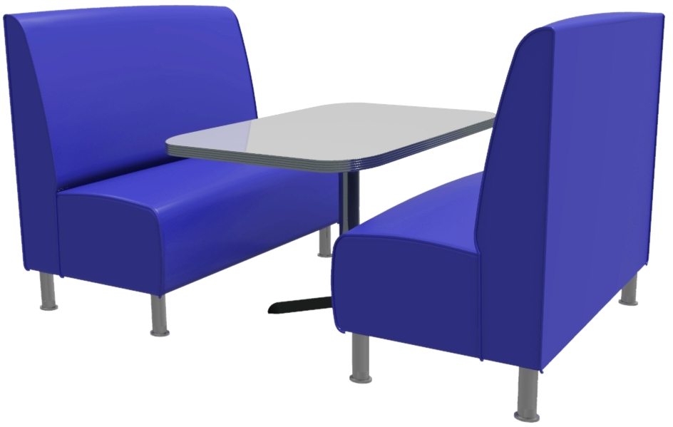 Montana Plain 4 Seater Booth Set